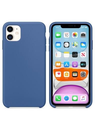 Microsonic Apple iPhone 11 (6.1'') Kılıf Liquid Lansman Silikon Çini Mavisi Mavi